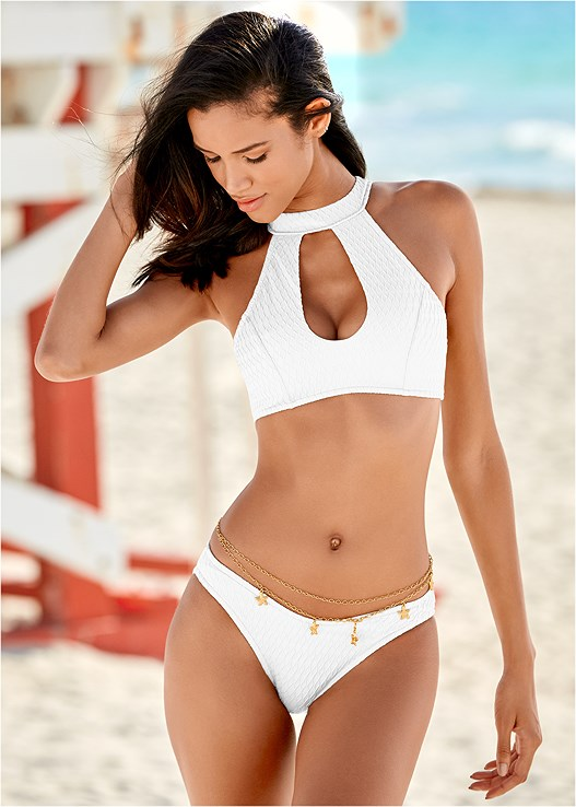 97f1c9c2c3a98 TEXTURE SCOOP BIKINI BOTTOM in White Waved Texture