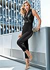 Alternate View Sequin Tuxedo Jumpsuit