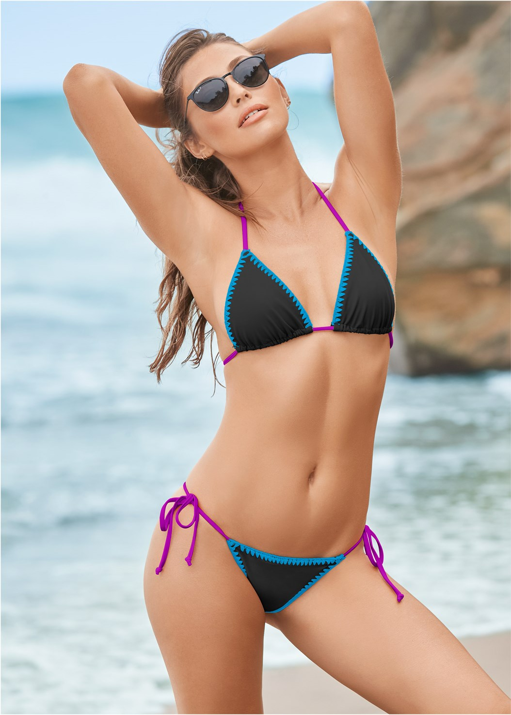 Reversible Triangle Top,Reversible String Bottom,Lattice Side Bikini Bottom