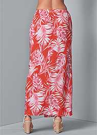 Back View Tie Front Maxi Skirt