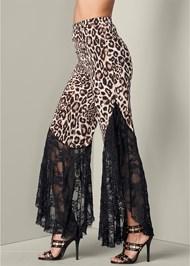 Alternate View Animal Print Lace Pants