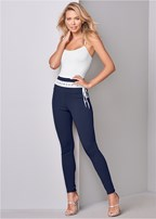 laced waistband leggings