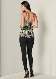 Back View Halter Print Top