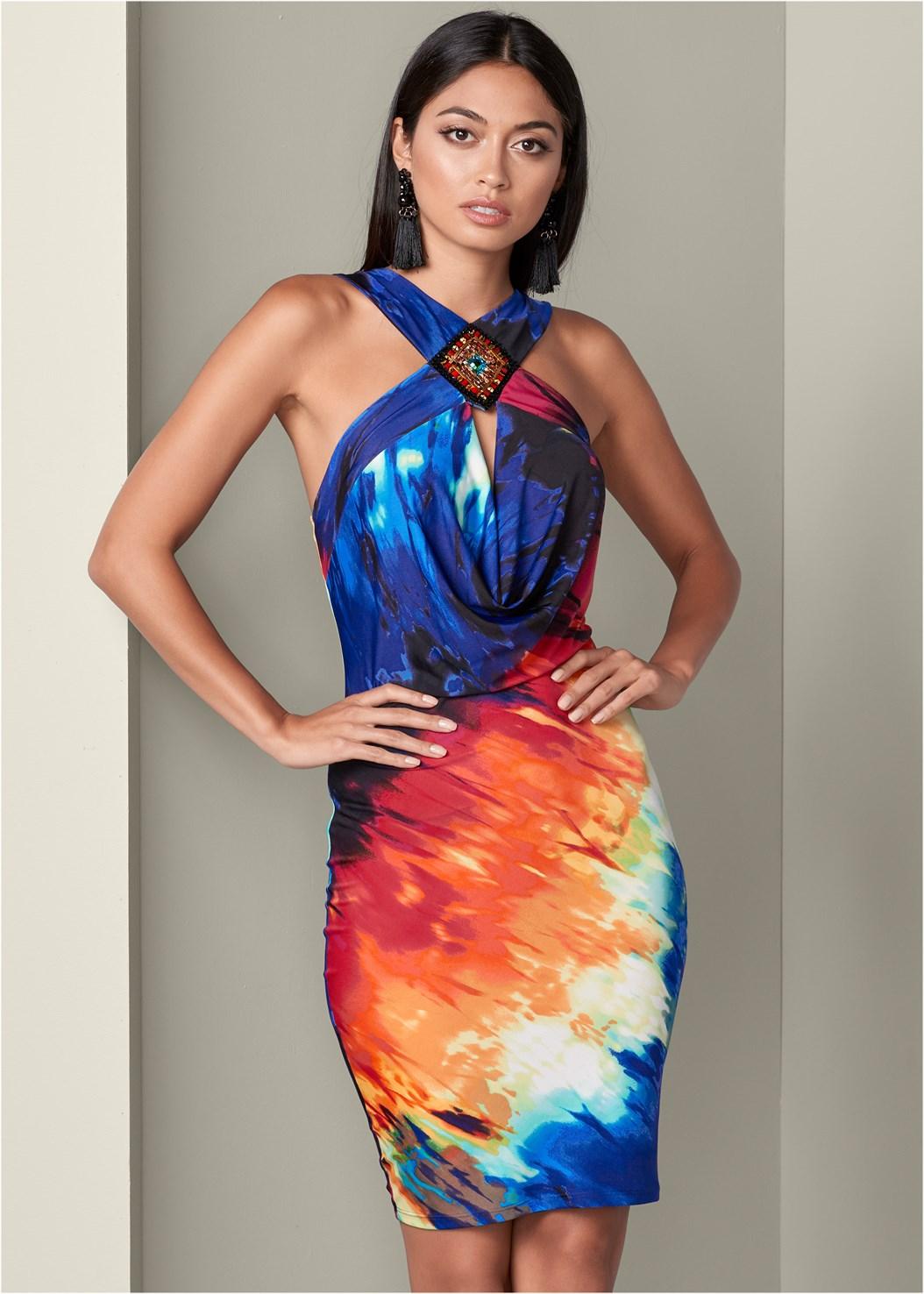 Embellished Bodycon Dress