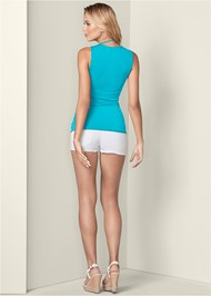 Back View Ruched Detail Surplice Top