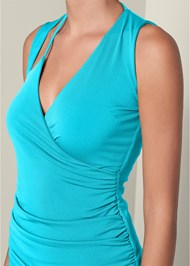 Alternate View Ruched Detail Surplice Top