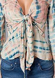 Alternate View Tie Dye Tie Front Top