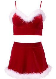 Alternate View Santa Baby Sexy Skirt