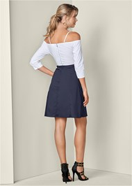 Full back view Tie Detail Shirt Dress