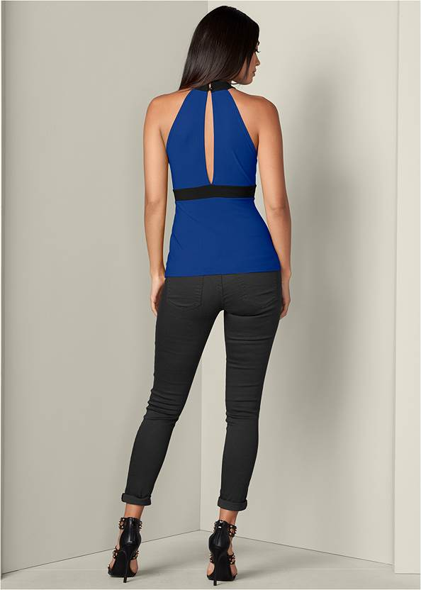 Back View Lace Up Top