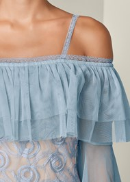 Alternate View Embroidered Tulle Top