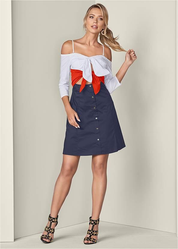 Tie Detail Shirt Dress