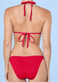 Alternate View Sweetheart Tie Front Halter Monokini