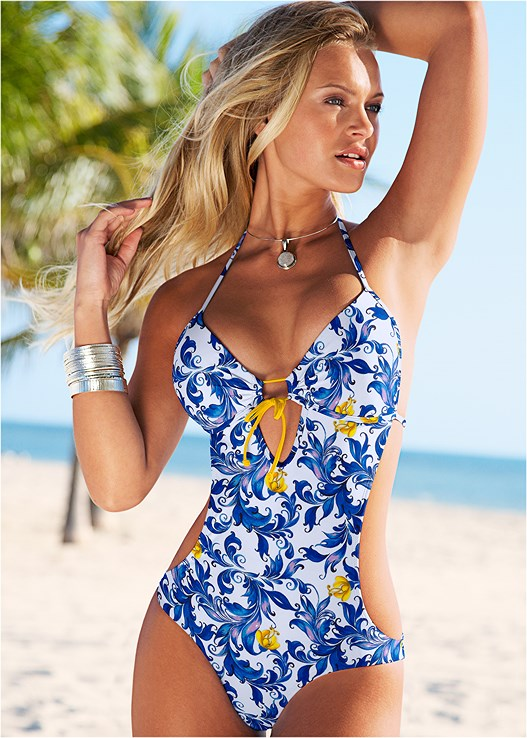 647871374af9 SWEETHEART MONOKINI Swimsuit in Blooming Blue