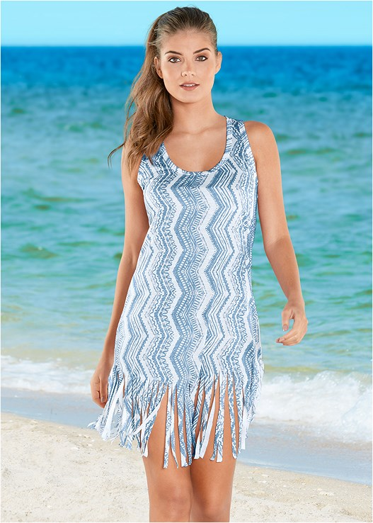FRINGED COVER-UP