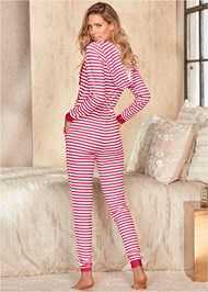Back View Striped Onesie