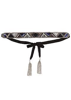 embellished tie belt
