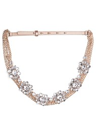 Front View Embellished Chain Belt