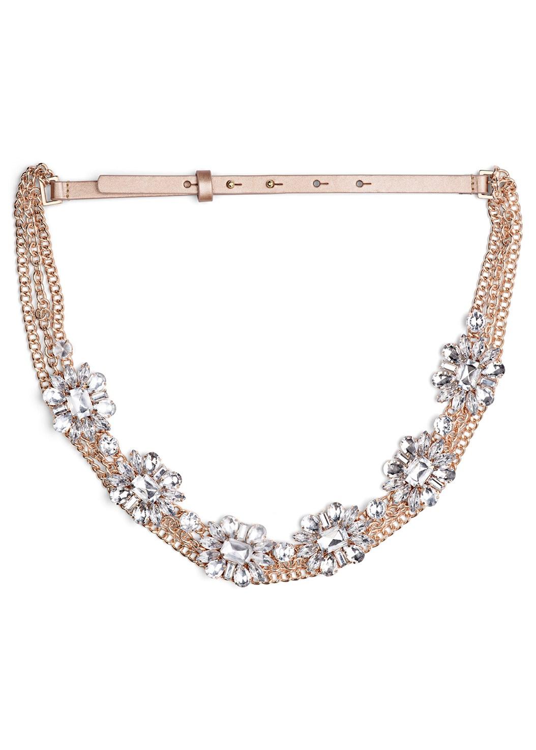 Embellished Chain Belt,Cupid U Plunge Bra,Cold Shoulder Lace Dress,Lucite Detail Heels