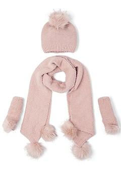pom pom scarf set