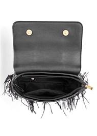 Alternate View Faux Feather Handbag