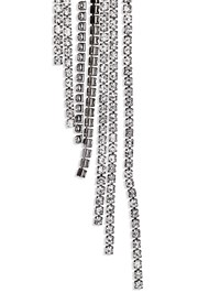 Alternate View Rhinestone Fringe Earrings