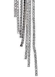 Alternate View Rhinestone Fringe Earrings