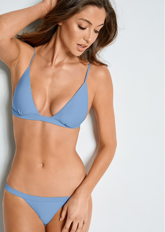 VERSATILITY BY VENUS ™ FIXED TRIANGLE BIKINI TOP,VERSATILITY BY VENUS ™ BANDED BRAZILIAN BOTTOM