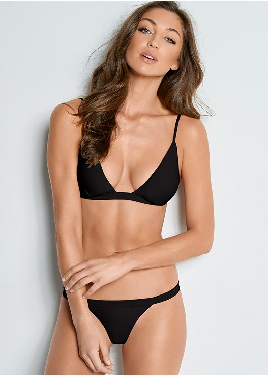 VERSATILITY BY VENUS ™ FIXED TRIANGLE BIKINI TOP,VERSATILITY BY VENUS ™ BANDED BRAZILIAN BOTTOM,VERSATILITY BY VENUS™  REVERSIBLE CHEEKY BOTTOM,VERSATILITY BY VENUS ™ REVERSIBLE HIGH CUT BOTTOM,VERSATILITY BY VENUS ® REVERSIBLE RETRO BOTTOM