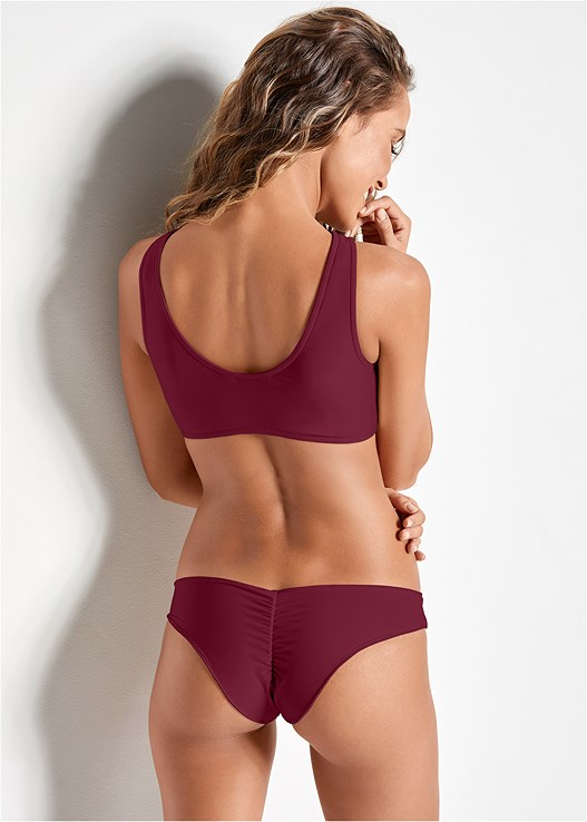 VERSATILITY BY VENUS ™ LOW RISE RUCHED BOTTOM,VERSATILITY BY VENUS ™ TWO IN ONE BIKINI TOP,VERSATILITY BY VENUS ™ FIXED TRIANGLE BIKINI TOP,VERSATILITY BY VENUS ® REVERSIBLE BIKINI BRALETTE,VERSATILITY BY VENUS ™  REVERSIBLE SCOOP TOP,VERSATILITY BY VENUS ™ REVERSIBLE LACE UP TOP