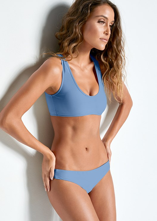 VERSATILITY BY VENUS ™ TWO IN ONE BIKINI TOP,VERSATILITY BY VENUS ™ LOW RISE RUCHED BOTTOM
