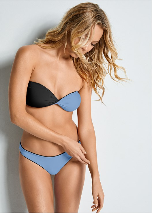 VERSATILITY BY VENUS™  REVERSIBLE BANDEAU TOP,VERSATILITY BY VENUS ® REVERSIBLE RETRO BOTTOM