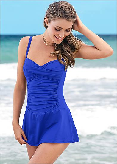 Slimming Skirted One-Piece