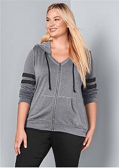 plus size lounge hoodie
