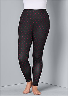 plus size plush sleep leggings