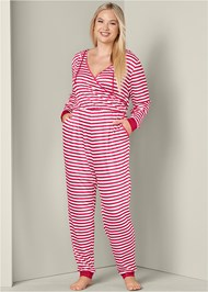 Front View Striped Onesie