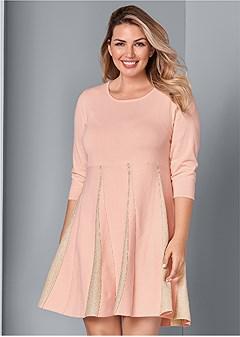 plus size glitter sweater dress