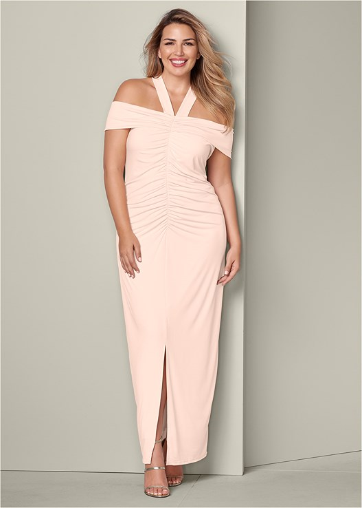 0f17f97598a Plus Size RUCHED DETAIL LONG DRESS