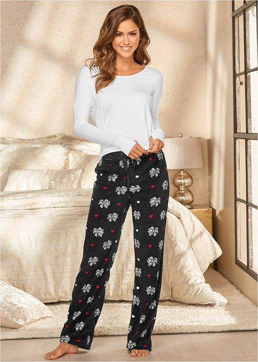 WOOBY PLUSH PANTS,OPEN BACK TOP