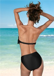 Back View Underwire Fringe Bandeau