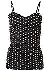 Alternate View Ruched Detail Polka Dot Top