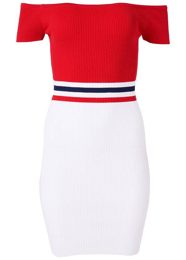Alternate View Color Block Ribbed Dress