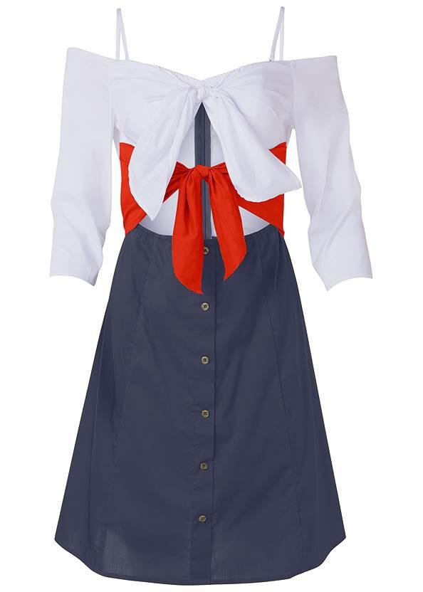 Ghost  view Tie Detail Shirt Dress