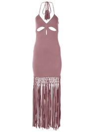 Alternate View Fringe Cut Out Maxi Dress
