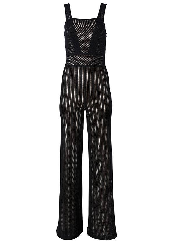 Alternate View Stripe Mesh Jumpsuit