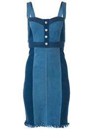 Alternate View Button Detail Denim Dress
