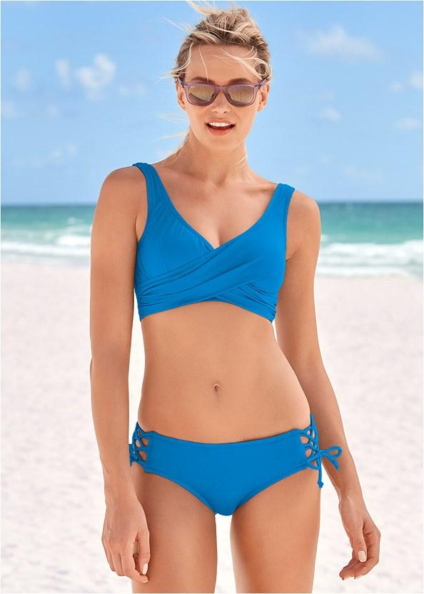 Lovely Lift Wrap Bikini Top,Lattice Side Bikini Bottom