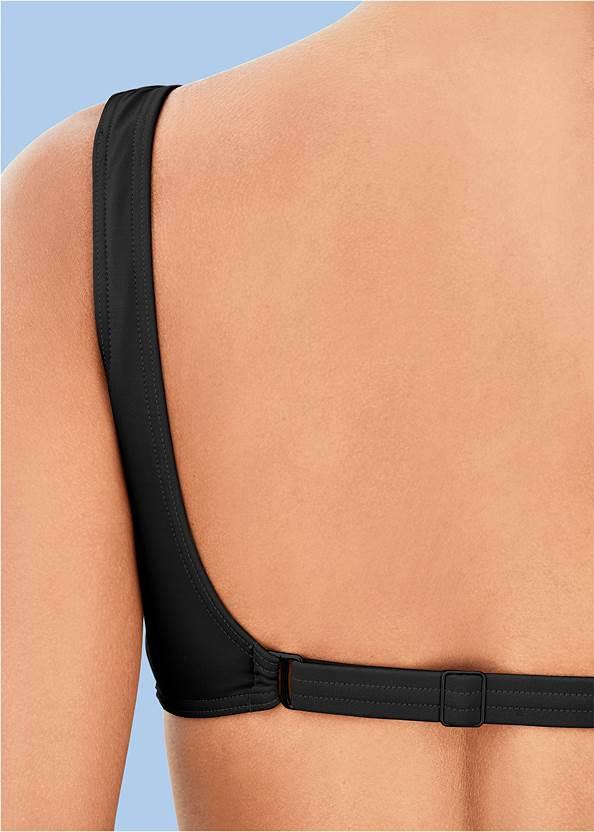 Back View Retro Swim Bralette Top