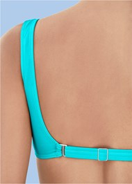 Back View Retro Swim Bralette Top
