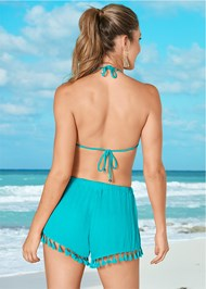Back View Tassel Shorts Cover-Up